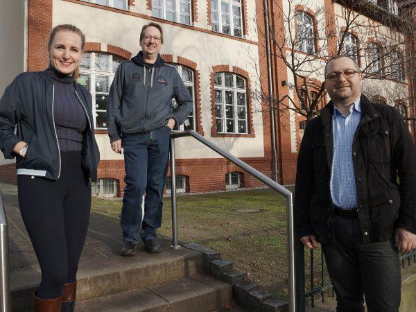 Am 16. November 2020 formierte sich das neue Vorstandsteam aus Heiko Mrose (mi), Dr. Jan Poliak (re) und Annalena Engel (li)